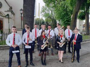 Członkowie Gminnej Orkiestry Dętej w Bolesławiu